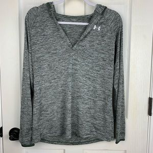 Under Armour Army Green Heathered Athletic Hoodie